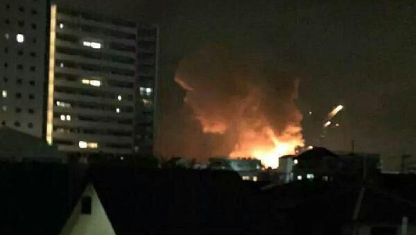 Series of explosions occured at an US military facility in the Japanese city of Sagamihara - Sputnik International