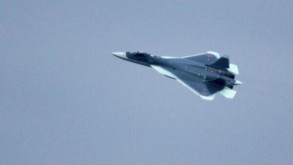 T-50 fighter flies from Komsomolsk-on-Amur to Zhukovsky - Sputnik International