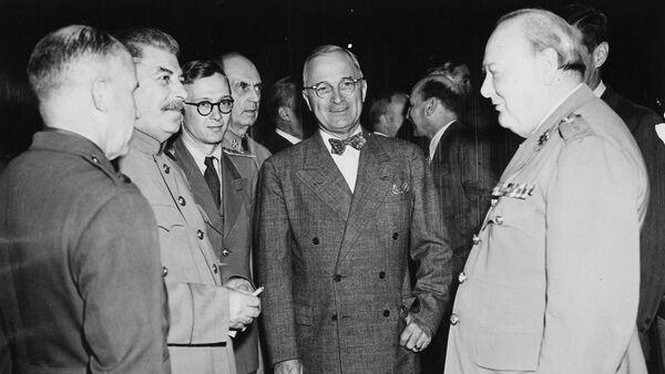 Potsdamer Konferenz,Stalin,Truman,Churchill - Sputnik International