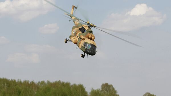 A Mi-17 V-5 helicopter is demonstrated at the testing facility of the OAO Kazan Helicopter Plant, part of the Helicopters of Russia, a Russian helicopter building holding - Sputnik International
