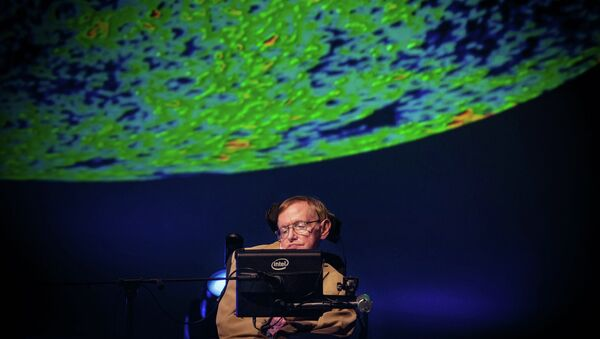 British theoretical physicist professor Stephen Hawking gives a lecture during the Starmus Festival on the Spanish Canary island of Tenerife on September 23, 2014. - Sputnik International