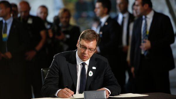 Aleksandar Vucic, Serbia's prime minister. File photo - Sputnik International