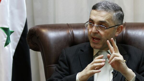 Syrian Reconciliation Minister Ali Haidar speaks during an interview with AFP in Damascus on February 11, 2014 - Sputnik International