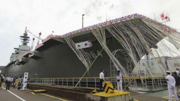 Izumo-class helicopter carrier Kaga at the navy yard in Yokohama. - Sputnik International