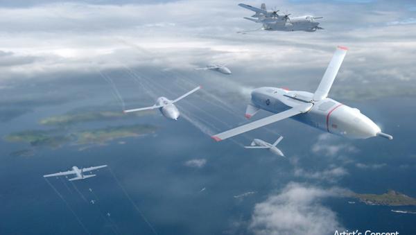 An artist's concept of DARPA's gremlin drones. - Sputnik International