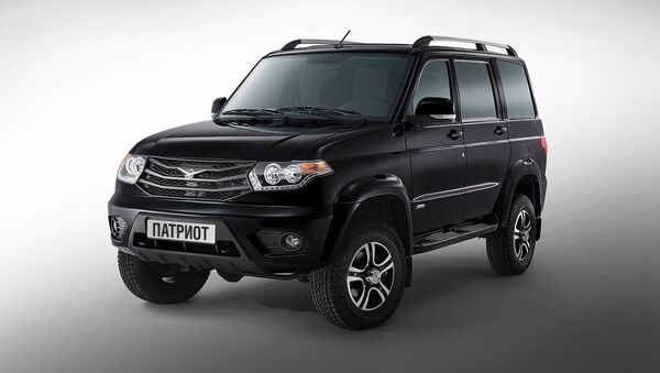 The new UAZ Patriot, one of the stars at the Moscow Off-Road Show. - Sputnik International