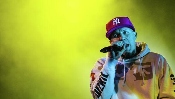 Limp Bizkit's vocalist Fred Durst during the concert at Stadium Live - Sputnik International