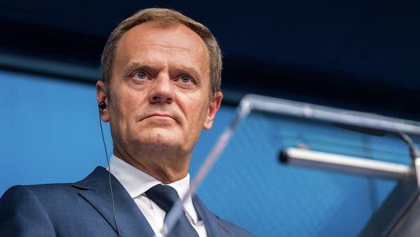 European Council President Donald Tusk speaks during a final media conference after an EU summit in Brussels on Friday, June 26, 2015 - Sputnik International
