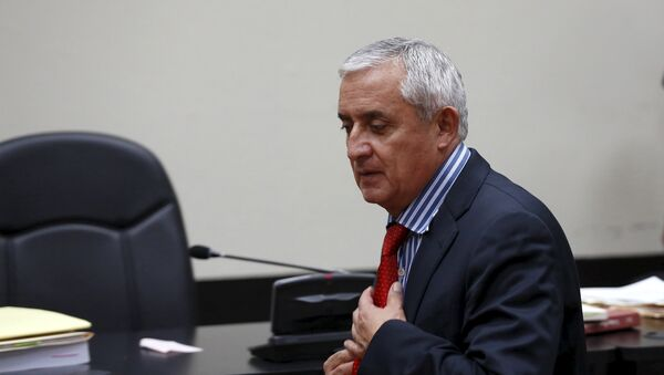 Guatemala's President Otto Perez Molina enters the courtroom after a break at the Supreme Court of Justice in Guatemala City, September 3, 2015 - Sputnik International