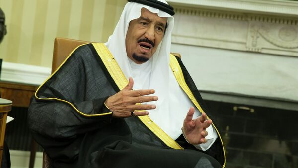 King Salman of Saudi Arabia speaks during a meeting with President Barack Obama in the Oval Office of the White House, on Friday, Sept. 4, 2015, in Washington - Sputnik International