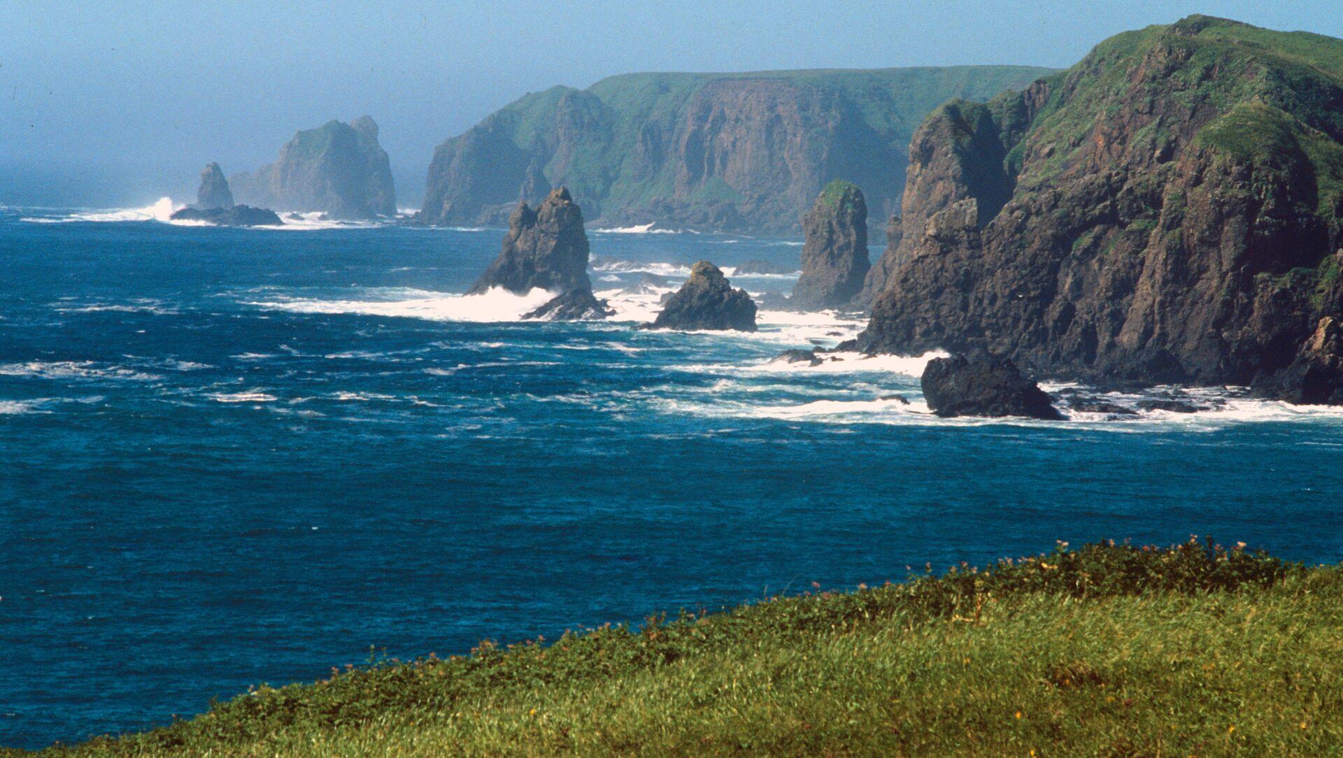 Rocks off Shikotan Island, aka Spanberg or Sikotan, in the Kurils - Sputnik International, 1920, 26.07.2021