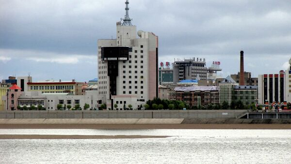 Heihe city as seen from the Russian territory. Blagoveschensk. - Sputnik International