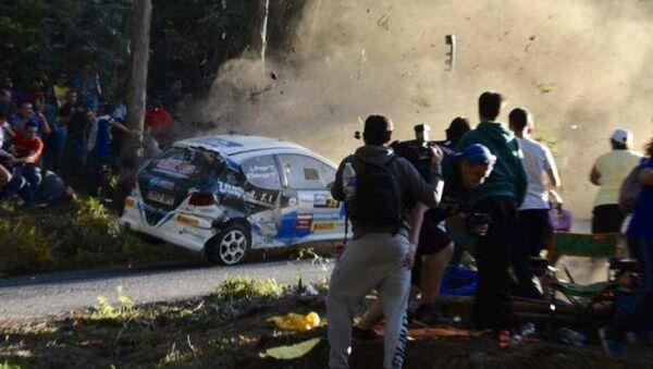 Car Rally Crash in Spain - Sputnik International