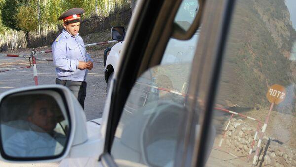 Checkpoint in Tajikistan. File photo - Sputnik International