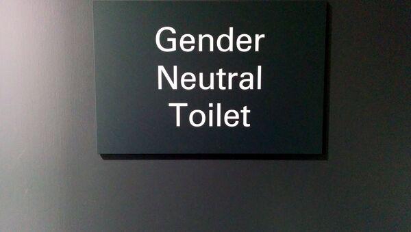 Gender Neutral Toilet sign, Imperial College Union, South Kensington, London, UK - Sputnik International