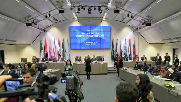 A general view shows the166th ordinary meeting of the Organization of the Petroleum Exporting Countries, OPEC, at their headquarters in Vienna, Austria - Sputnik International