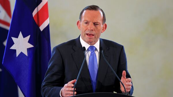 Former Australian Prime Minister Tony Abbott speaks during a joint press conference - Sputnik International