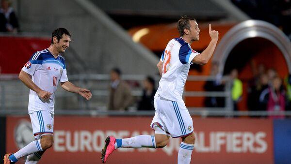 Russian national football team beat Liechtenstein 7:0 in a Euro 2016 qualifier. - Sputnik International