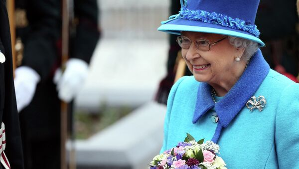 Britain's Queen Elizabeth II attends the opening ceremony for the Borders railway route at Tweedbank station, Scotland, Wednesday Sept. 9, 2015. - Sputnik International