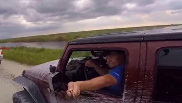 Jeep Crash Caught by Selfie - Sputnik International