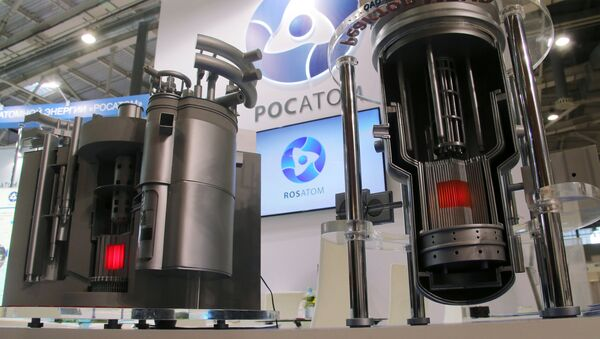 Models of nuclear reactors BREST and MBIR at Rosatom's stand at the 11th National Forum and Exhibition Goszakaz - 2015 (state procurement) at the VDNKh national economic achievements exhibition in Moscow - Sputnik International