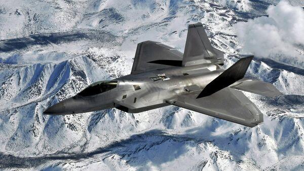 A USAF F-22 Raptor flying out of Elmendorf Air Force Base, Alaska - Sputnik International