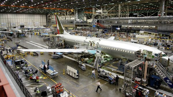 Workers build a Boeing Co. 737 at the company's Renton, Wash. assembly plant Tuesday, Jan. 31, 2006 - Sputnik International