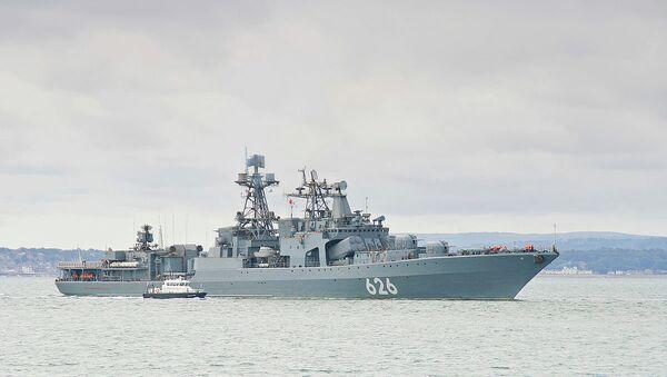 Udaloy class destroyer of the Russian Federation Navy RFS Vitse Admiral Kulakov - Sputnik International