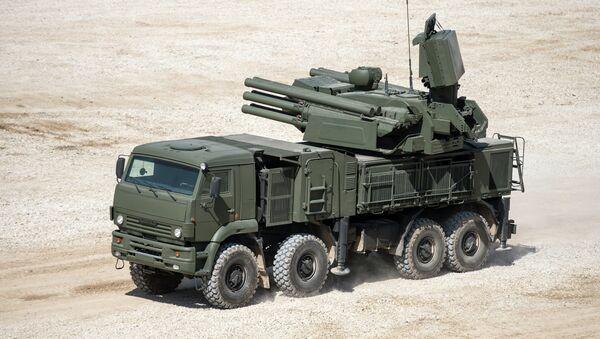 Military equipment displayed in the run-up to Army-2015 international forum - Sputnik International