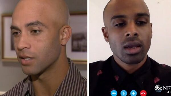James Blake (left) was arrested when he was mistaken for Sean Satha (right) who also turned out to be innocent. - Sputnik International