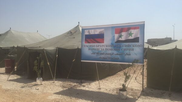 Russia has established the first refugee camp for 500 people in the central Syrian city of Hama - Sputnik International