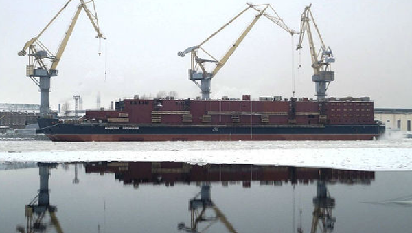 "Floating nuclear co-generation plant (FNCP) ""Akademik Lomonosov"" - Sputnik International"