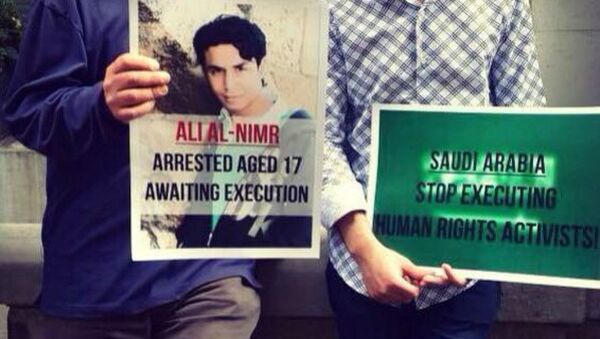 20-year-old Ali Mohammed al-Nimr from Saudi Arabia may soon face death by crucifixion after the court rejected his final appeal - Sputnik International