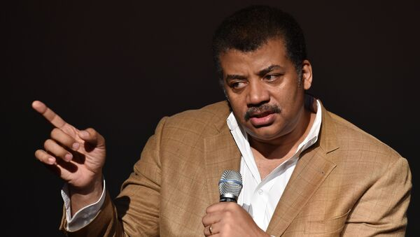 Neil deGrasse Tyson, astrophysicist, Cosmos television show host and Frederick P. Rose Director of the Hayden Planetarium at the American Museum of Natural History speaks August 4, 2014 after a screening of James Cameron's Deepsea Challenge 3D film at the museum in New York. - Sputnik International