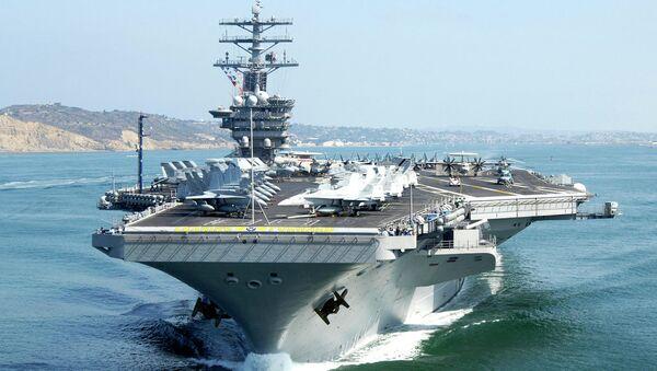 The aircraft carrier USS Nimitz - Sputnik International