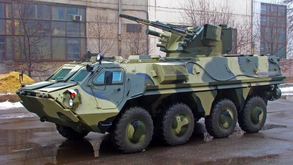 BTR-4 with the fighting module Parus - Sputnik International