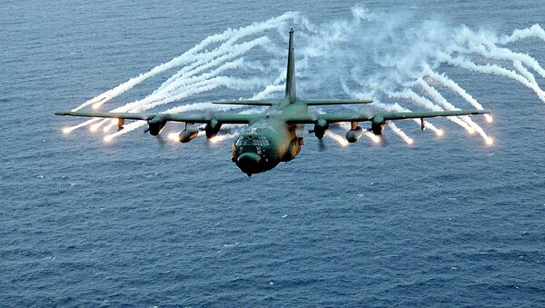 This US Air Force file photo obtained 07 March 2002 shows an Air Force AC-130 gunship on a training exercise - Sputnik International