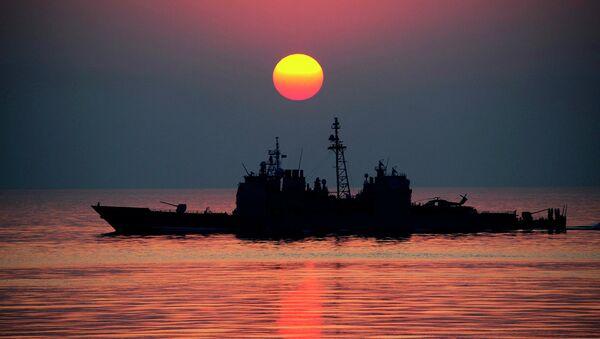 Ticonderoga class guided-missile cruiser USS Mobile Bay (CG 53) - Sputnik International