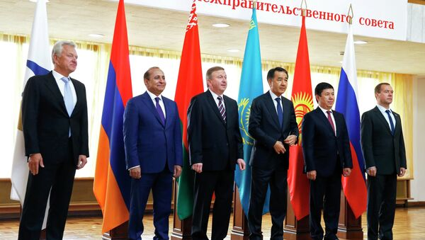 Russian Prime Minister Dmitry Medvedev attends meeting of the Inter-Governmental Council of Eurasian Economic Union Countries in Belarus - Sputnik International