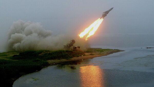 Launch of coastal rocket complex Redut - Sputnik International