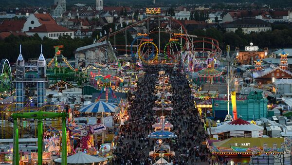 A picture taken on September 21, 2015 shows the Theresienwiese grounds of the Oktoberfest beer festival in Munich - Sputnik International