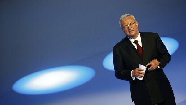 Volkswagen CEO Martin Winterkorn gives his closing speech during the Volkswagen group night ahead of the Frankfurt Motor Show (IAA) in Frankfurt, Germany - Sputnik International