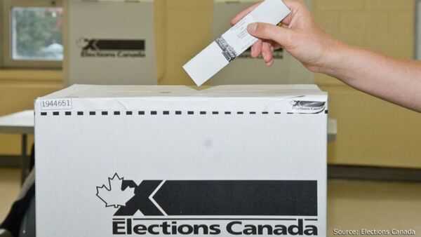 Elections Canada Voting Box - Sputnik International