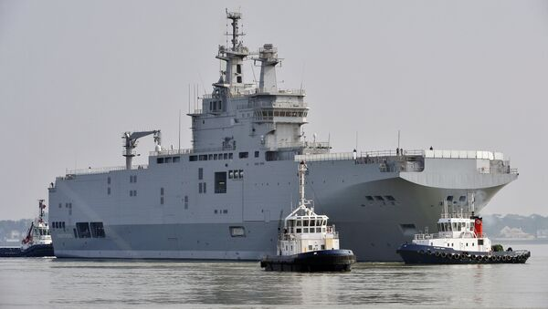 An RT correspondent stepped on board the Mistral assault ship, shortly after it was reported that the first helicopter carrier of two purchased by Egypt from France had arrived in Alexandria - Sputnik International