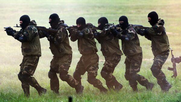 Demonstration performances by Spetsnaz troops - Sputnik International