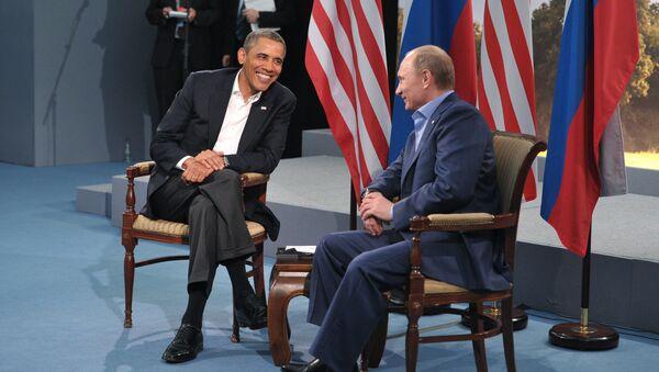 Russian President Vladimir Putin, right, and U.S. President Barack Obama - Sputnik International