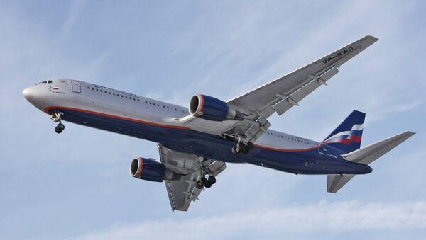 Aeroflot Russian Airlines Boeing-767 at Sheremetyevo airport. - Sputnik International