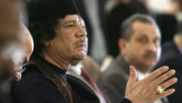Leader of the Socialist People's Libyan Arab Jamahiriya Muammar Gaddafi. (File) - Sputnik International
