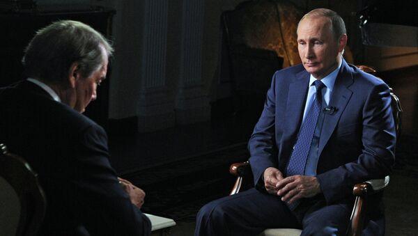 Russian President Vladimir Putin gives interview for CBS and PBS channels - Sputnik International