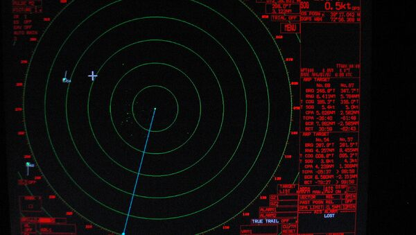 The radar in night mode showing stats about targets in at right - Sputnik International